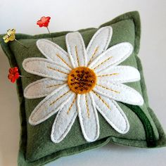 Pincushion by TheBlueDaisy, I would love this as a coaster