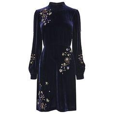 Buy L.K. Bennett Che Velvet Dress, Midnight Online at johnlewis.com