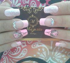 Mandala Nails, Acryl Nails, French Tip Nails, Finger, How To Do Nails, Pedicure, Nail Colors, Nail Art Designs, Selfish