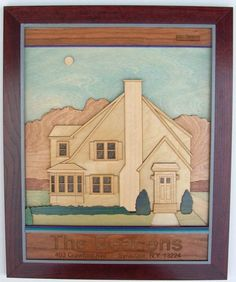 Wooden Art of Your House Wall Hanging