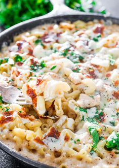 Easy Chicken Alfredo Pasta Bake – A simple, no-fuss dinner that you can easily make right at home with very few ingredients.