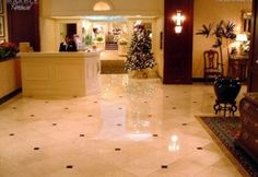 Hotel Lobby - Polished Marble and Granite Floor Scope of work: sand, polish and protect floor with a penetrating sealer. Granite Flooring, Hotel Lobby, Marble, Polish, Gallery, Vitreous Enamel, Granite, Manicure, Nail Polish