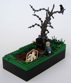 Can't forget the Cemeterians,..LEGO grave