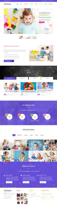 Kids World Children WordPress Theme