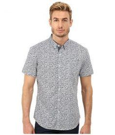 7 Diamonds Future Reflection Top (Slate) Men's Short Sleeve Button Up