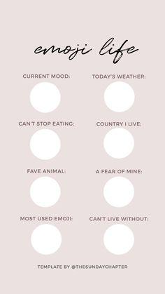 Emoji life Instagram story template