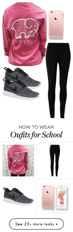 """Lazy day at school"" by hme-prep on Polyvore featuring Max Studio and NIKE"