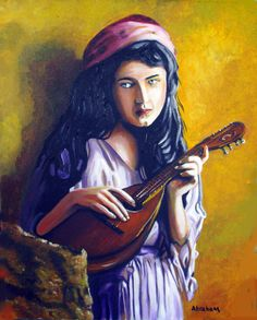 gypsy paintings for sale | ... Manuel Abraham - Little Gypsy Fine Art Prints and Posters for Sale