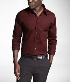Express men's clothing gives you function and style in one. Check out our new men's fashion arrivals in suits, dress shirts, jeans, shirts and much more to update your men's style. Mens Dress Outfits, Formal Men Outfit, Stylish Mens Outfits, Men Dress, Casual Outfits, Maroon Shirt Outfit, Maroon Shirts, Latest Mens Fashion, Men's Fashion