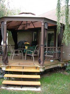 How To Build An Octagon Deck Easydeckstobuild Deck Designs Backyard Gazebo Building A Deck