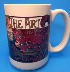 Harley Davidson Coffee Mug The Art of Motorcycles Girl Riding 1911 Milwaukee