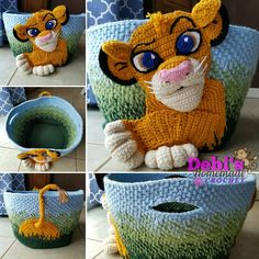 I finally finished, this awesome basket AND the pattern! Pattern is coming soon to my etsy shop! Plus look at my new logo! #lionking #simba #crochetdesign #crochet #crocheting #crochetbasket #basket #lioncub #crochetlion #crochetapplique #crochetpattern