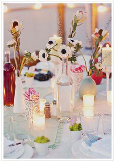 simple white bud vases