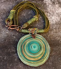 polymerclayfimo: pure inspiration. A series of beautifully done necklaces. Color and construction.  I