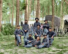Colorized photo of Union Soldiers, 1863.
