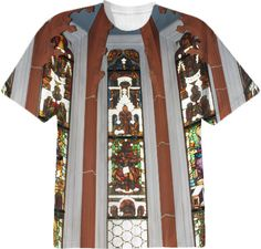 Stained-Glass Church Window T-Shirt from Print All Over Me