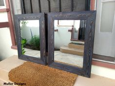 ATTENTION THE PRICE IS JUST FOR ONE MIRROR ( 1 Piece )!!!! Wooden mirror frames designed and handmade by me Alexander Muller. I'm a German