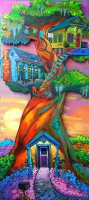 New Painting Ideas Trippy Artists Ideas Creation Art, Arte Pop, Whimsical Art, Tree Art, Trippy, Painting & Drawing, House Painting, Amazing Art, Awesome