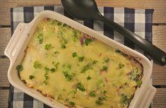 Rijstovenschotel met kip, broccoli en bechamelsaus