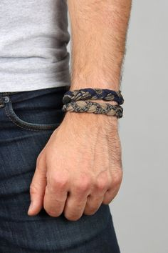 Blue Mens Bracelet Mens Blue Bracelet Blue Bracelet by Necklush - Men's style, accessories, mens fashion trends 2020 Stackable Bracelets, Braided Bracelets, Handmade Bracelets, Bracelets For Boyfriend, Bracelets For Men, Cuff Bracelets, Friendship Bracelet Patterns, Friendship Bracelets, Bracelet Crafts
