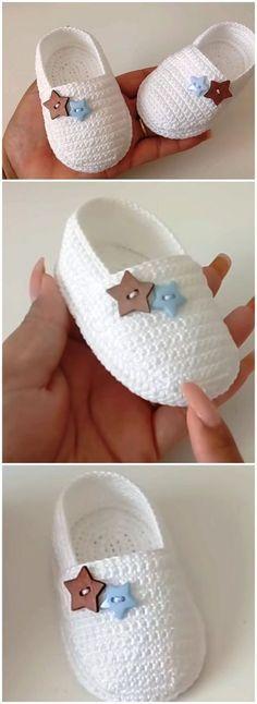 The New All Crochet Baby Espadrilles - Welove-Crochet . The New All Crochet Baby Espadrilles – Welove-Crochet Sou Crochet Baby Shoes, Love Crochet, Crochet Gifts, Crochet For Kids, Crochet Clothes, Knit Crochet, Booties Crochet, Crochet Ideas, Easy Crochet