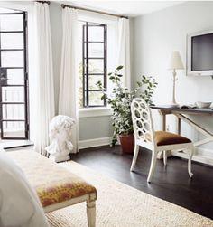 Windows, doors, walls, curtains