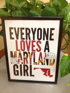 Ohmygoodness, cute! I'm not a Maryland girl, but I certainly love my Maryland boy! I wonder if there's an Oregon girl one...?