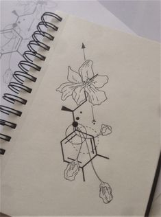 Tattoo ideen Molecular plant, flowers and geometry complementing the design based on chemical formula of adrenaline. Designed for an arm tattoo. Molecular plant, flowers and geometry complementing the design based on chemical& Biology Tattoo, Chemistry Tattoo, Science Tattoos, Biology Art, Love Tattoos, Body Art Tattoos, Small Tattoos, Arm Tattoos, Serotonin Tattoo