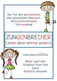 Zungenbrecher, Lesen, lesen üben, Sprache, Vorschule, Grundschule, Förderschule, Legasthenie, Legasthenietraining, AFS-Methode