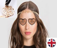 New Fashion Women Metal Head chain Hollow Rose Flower Elastic Hair Band Headband