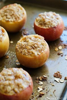Apple Crisp Stuffed Baked Apples So good right out of the oven and easy to make.