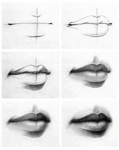 Step by step, how to draw lips!