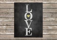 8 x 10 Chalk Word Art Love Print by PolkadotPrintCompany on Etsy, $12.49