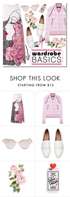 """""""No 356:Spring Jacket"""" by lovepastel ❤ liked on Polyvore featuring Giamba, Sister By Sibling, Le Specs and wardrobebasics"""