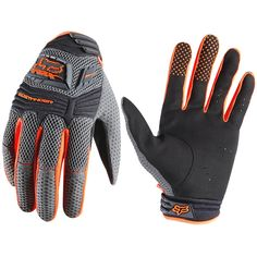 Fox Racing Sidewinder Mountain Bike Gloves (For Men and Women) in Orange.  I have these - they are so grippy and awesome.