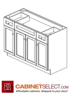 Shop K-Series White Kitchen Cabinets. The line offers solid birch wood and a provides a new color to the existing popular K-series. Kitchen Cabinets On A Budget, Rta Cabinets, White Cabinets, Base Moulding, Plywood Shelves, Plywood Boxes, Veneer Door, Types Of Cabinets