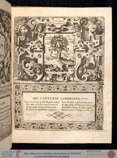 Pittoni, Giovanni Battista ; Dolce, Lodovico  Imprese di diversi principi, duchi, signori, e d'altri personaggi et huomini illustri Venedig, 1602 [Cicognara Nr. 1939]