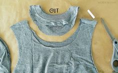 Need a quick shirt for a party a just something different to go out in? You could make one in minutes with a pair of scissors. ...