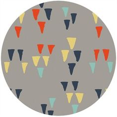 Miriam Bos for Birch Organic Fabrics, Wildland, CANVAS, Arrowheads Shroom