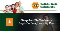 Ons het 'n pos vakant in Brooklyn (Gauteng) - Solidariteit: Administratiewe Beampte http://jb.skillsmapafrica.com/Job/Index/14622 #poste #loopbane #SkillsMap