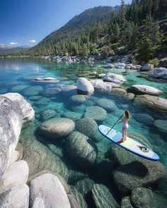 Lake Tahoe, California and Nevada in the Sierra Nevada Mountains the ultimate adventure travel destination! Hike, mountain bike, and enjoy the worlds most beautiful water with this perfect Lake Tahoe itinerary. Vacation Places, Dream Vacations, Vacation Wear, Us Vacation Spots, Camping Places, The Places Youll Go, Places To See, Destination Voyage, Travel Goals