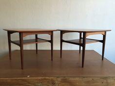 Pair of Vintage #Teak #Night #Stands #Midcentury #Modern #Vintage #Design #Furniture #DenMøbler #Danish