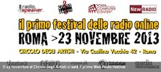 Il 23 novembre al Circolo degli Artisti ci sarà il primo Web Radio Festival