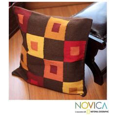 Handcrafted Alpaca Blend 'Square Riddles' Cushion Cover (Peru) | Overstock.com Shopping - The Best Deals on Throw Pillows & Covers
