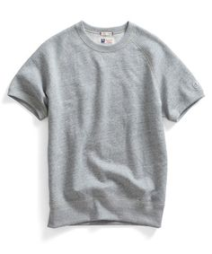 Short Sleeve Sweatshirt in Grey Heather