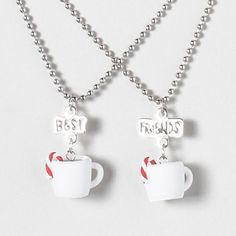 hot cocoa best friends necklaces