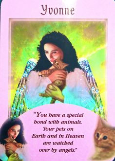Yvonne, from the Messages From Your Angels Oracle Card deck, by Doreen Virtue, Ph.D