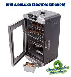 Win a Deluxe Electric Smoker from Sweepstakes Advantage! More #sweepstakes @SweepsAdvantage.