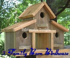 Excited to share this item from my shop: barn birdhouse, rustic barn bird house, outdoor gifts for Dad, small barn birdhouse Wooden Bird Houses, Wooden Barn, Bird Houses Diy, Rustic Barn, Rustic Decor, Wooden Ladder, Post Office, Fall Yard Decor, Small Barns