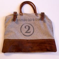 Classic wool and leather No. 2 Bag | Industry Home